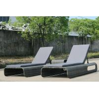China Hot Selling Grey Beach Wicker Daybed Outdoor Rattan Daybed Lounge Furniture wholesale