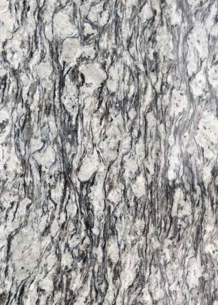 Quality Polished Flamed Granite Stone Slabs Spray White Seawave Flower G708 Countertop for sale