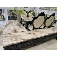 China Artificial Marble Top Oak Coffee Table Set For Dining Room No Deformation wholesale