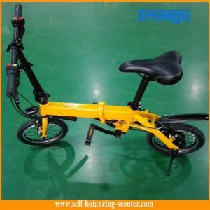 China Vélo électrique portatif de bicyclette électrique de poussée de la batterie au lithium 36V en jaune wholesale