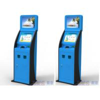 China Cash Acceptor / Coin Acceptor Ticket Vending Machine / Kiosk Blue Color on sale