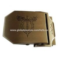 China 39mm men's belt buckle with customized brand logo, various size and color are available on sale