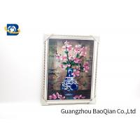 Modern Style 3D Lenticular Pictures Beautiful Flower Picture / Printing