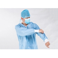 China Pulp Spunlace Nonwoven Fabric XL Disposable Patient Gowns on sale