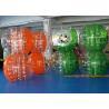 China Inflatable Bumper Ball , human bumper balls Hot Air Welding Technology orange soccer ball wholesale