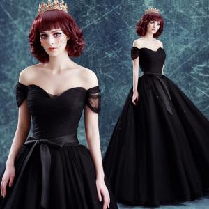 China Annual Meeting Host Dress Black Elegant Evening Dresses TSJY043 wholesale