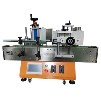 China Multi-Function Semi Automatic Round Bottle Can Jar Labeling Sticking Machine with Label Date Code Printer wholesale