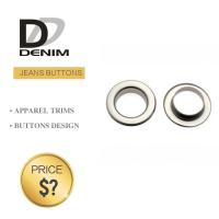 China Metal Material Denim Eyelet Clothing O Ring Rivet With Brass Gold Color wholesale