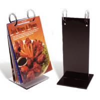 China Fashionable Custom Acrylic Menu Holders With Excellent Service on sale