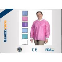 China OEM Sterile Disposable Visitor Coats With Buttons , Disposable Hospital Scrubs  wholesale