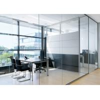 China Lighting Partition Wall Glass , Glass Office Partition Systems wholesale