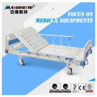 China Antique Manufacturer Single Iron Manual Adjustable Bed , Hospital Style Beds wholesale