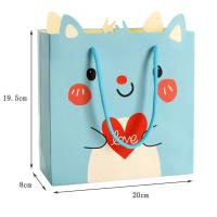 2017 custom high quality  luxury funny paper shopping bag packaging with rope handle