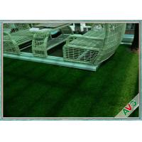 PE Yarn Commercial Outdoor Artificial Grass Non - infill Need For Outdoor Landscape
