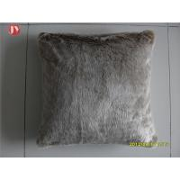 China Natural Color Faux Fur Pillows Cushion Cover Dry Washable Car Seat Decorative wholesale