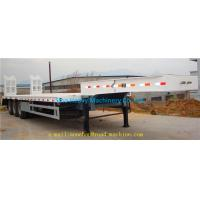 China SHMC 3 AXLES EQUIPMENT LOW BED TRAILER King pin 3.5 inch Q235 MATERIAL With Radial Tires on sale