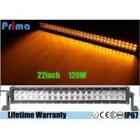 China Dual Row 22 Inch Remote Control LED Light Bar Amber White Flash 120W Power wholesale