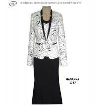 The latest mandarin collar lady jacket skirt suit