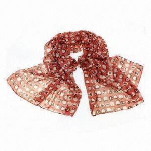 China Scarf, made of chiffon, cartoon printing, fashionable design wholesale
