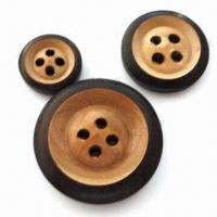 China Wooden Buttons, Available in Various Sizes and Colors, Customized Designs are Accepted wholesale