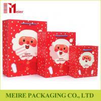 Xmas Santa Claus printing gift bag festival christmas paper bag printed with thress size