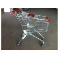 China Supermarket Push Cart Retail Grocery Metal Wire Shopping Trolley Cart With Powder Coated wholesale