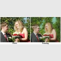 Hand Painted Wedding Portrait Painting From Photo Realistic Custom Oil Portraits