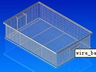 welded wire basket with handles