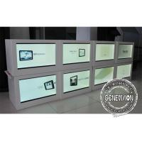 China HD 21.5 Inch Led See Through Screen / Right Angled Transparent Lcd Panel Box on sale