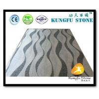 China Xiamen Kungfu Stone Ltd supply Wave Grey White Marble Mosaic In High quality and cheap price wholesale