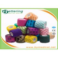 China First Aid Care Cohesive Bandage Wrap , Colored Self Adhering Gauze Bandage wholesale