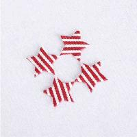 China Gingham Fabric Ultrasonic Embossing Flowers Crafts Applique DIY Decoration wholesale