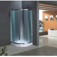 China Aluminium Alloy Profile Tempered Glass Shower Screen with Pattern on sale