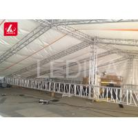 China Structural Space Framework Curved Stage Roof Truss For Stage Light Event on sale