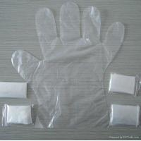 Buy cheap Natural Disposable Polythene Gloves 15 Microns Thickness For Personal Care from wholesalers