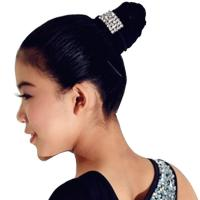 China Decorative Hair Pins Dance Wear Accessories Shiny Cute Crystal Head Piece on sale