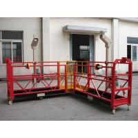 China 90 Degree Red Steel Rope Suspended Platform Cardle for Building Cleaning wholesale