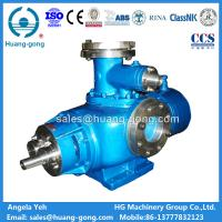 China Marine Twin screw pump for cargo oil and lubricating oil transfer from Huanggong Machinery Group on sale
