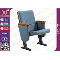 Molded Foam Low Back Auditorium Seat Chairs With MDF Writing Pad Spring Return