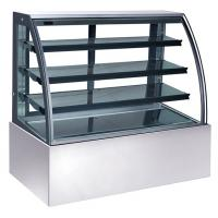 China 600L Refrigerated Cake Display Units , 220V-240V/50Hz Refrigerated Display Cabinet with 1800mm Length and Three Shelves wholesale