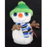 China Small Snowman Plush Christmas Ornaments 15 Inch Looky Boo Stuffed Animal wholesale