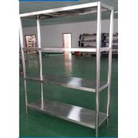 China Heavy Duty Shelving Stainless Steel Display Stands , Warehouse Rack System wholesale