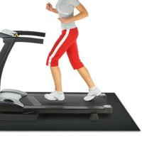 China Folding Black Treadmill Floor Mat With Shockproof , Treadmill Shock Absorber Mat wholesale