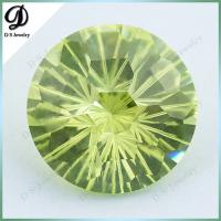 China 15mm fireworks cutting Loose Gemstone Wholesale Apple Green CZ wholesale
