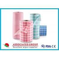 China Spunlace Viscose And Polyester (PET) Non Woven Fabric Roll Colorfu Printed wholesale