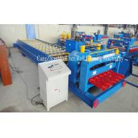 China High Speed Steel Glazed Roll Forming Equipment With Hydraulic Press And Cut System wholesale