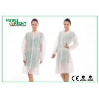 China Dental Medical Tyvek Disposable Lab Coats / Plus Size Lab Coats Breathable For Body wholesale