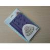 China Purple Eco Silicone Fondant Mould / Silicone Sugar Molds For Cake Decoration wholesale