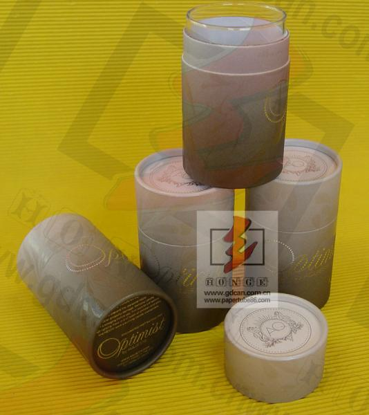 Quality Kraft Paper Wine Bottle Gift Tube With Lids , Cylinder Wine Gift Boxes for sale