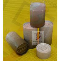 China Kraft Paper Wine Bottle Gift Tube With Lids , Cylinder Wine Gift Boxes wholesale